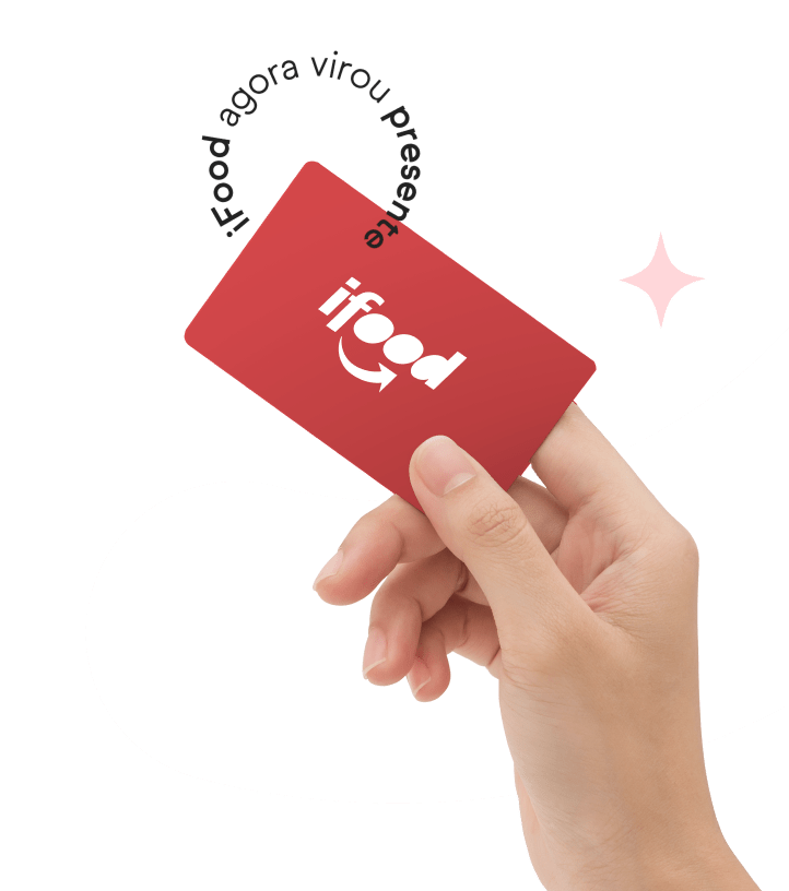 Segurando ifood card